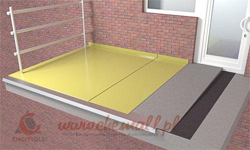 izolacja balkonu sikafloor 400n